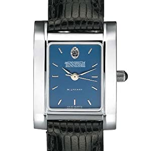 Tennessee Ladies Steel Quad Blue Dial with Leather Strap by M.LaHart