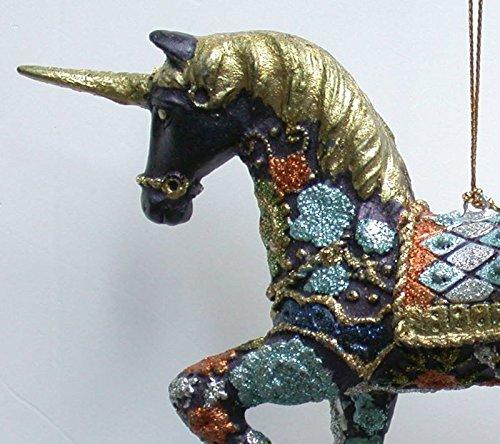 bezau-Berndes-Licorne-dcoration--suspendre-BleuOr-dcorations-dcoration-de-Nol-15-cm