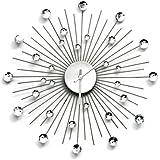 Premier Housewares Glamour Horloge murale à strass