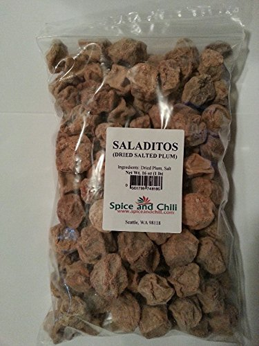 Saladitos - Plain / Salted Dried Plum (1 Lb Bag) (Plum Salt compare prices)