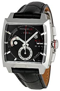 TAG Heuer Men's CAL2110FC6257 Monaco Black Dial Watch