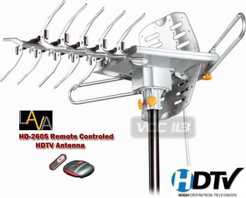 Lava HD-2605 UHF/VHF HDTV Antenna with Remote Control