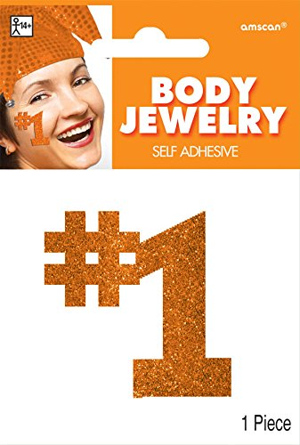 Orange Body Jewelry - 1
