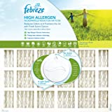 Febreze AFFB1625 Considerable Allergen Microparticle and Odor Reduction Air Furnace Filter, 4 Pack, 16-Inch by 25-Inch