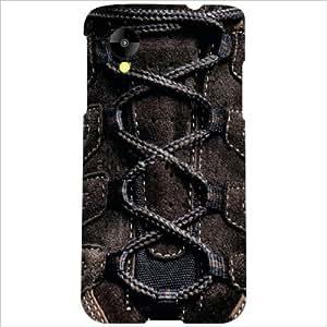 LG Nexus 5 LG-D821 Back Cover - Brown Shoe Laces Designer Cases