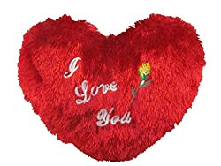 Lilone Gifts - Red I Love You Heart Stuffed Soft Plush Fur Pillow Size 25Cm