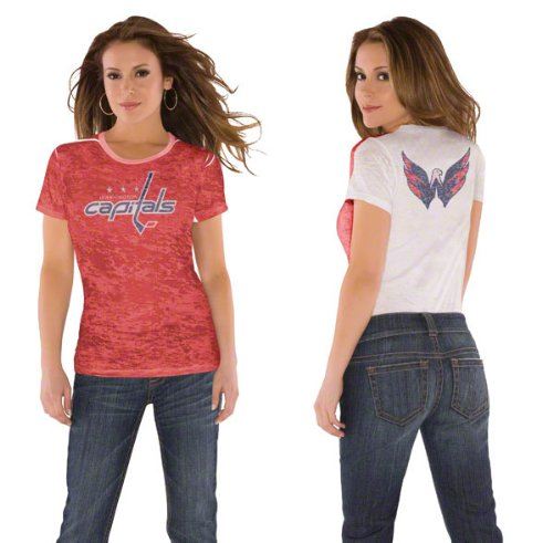 Washington Capitals Women&#039;s Superfan Burnout Tee from Touch by Alyssa Milano at Amazon.com