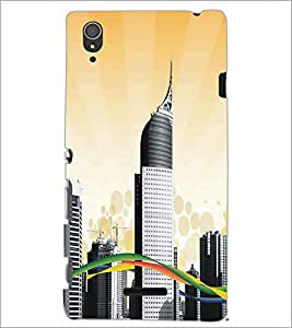 SONY XPERIA T3 BUILDINGS Designer Back Cover Case By PRINTSWAG