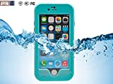Iphone 6 Plus Waterproof Cell Phone Protective 5.5 Case,Nancy's shop Touch ID Ip 68 Underwater Waterproof Dirtproof Snowproof [Kick-stand] Armor Case Cover for Iphone 6 Plus 5.5 (At&t, Verizon Wireless, Virgin & Sprint)buy Now to Protect & Defend Your Iphone 6 Plus 5.5 (Light blue iPhone 6 Plus Nancy's shop Waterproof Case Cover)