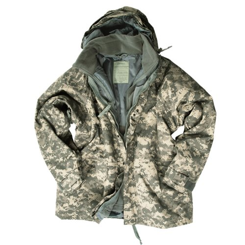 Military Parka Waterproof Smock ECWCS Mens Jacket with Fleece ACU Digital Camo