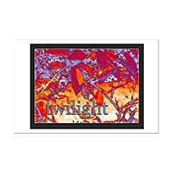CafePress - Twilight Leaves - Mini Poster Print