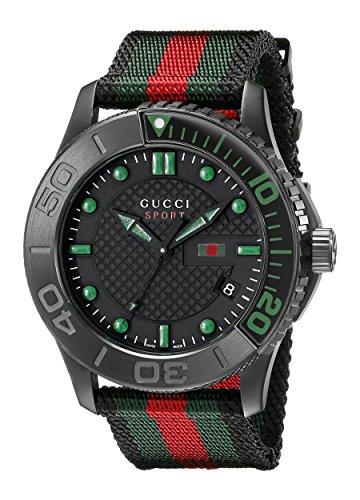 R. GUCCI TIMELESS XL SPORT NEGRE/VERD orologi uomo YA126229