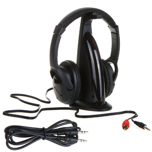 Stocking Out! Bargain Deal! Hifi Wireless Headphone Earphone Fm Radio Monitor Mp3 Pc Tv Audio Phones
