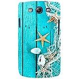 For Samsung Galaxy S3 I9300 :: Samsung I9305 Galaxy S III :: Samsung Galaxy S III LTE Blue Wood Board ( Blue Wood Board, Wood Board, Net, Wood Board ) Printed Designer Back Case Cover By FashionCops