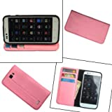 i KitPit   PU Leather Wallet Flip Case Cover For Karbonn A50 (LIGHT PINK) available at Amazon for Rs.479