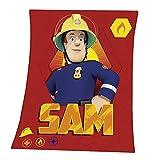Sam El Bombero - Fireman Sam - Fleece Blanket - Manta Polar 130x160cm