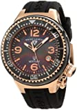 Swiss Legend Womens 11844-BKBRA Neptune Black Mother-Of-Pearl Dial Silicone Watch with Ceramic Case