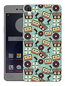 "Humor Gang Vintage Cassettes Printed Designer Mobile Back Cover For ""Oppo R7"" (3D, Matte, Premium Quality Snap On Case)"