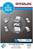 AtFoliX FX-Clear Crystal-Clear Screen Protectors for Canon EOS 1Ds Mark II Pack of 2 Top quality: Made in Germany.