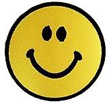 Smiley Face Smiley felice pensiero possitive Hippie Patch '7,5 x 7,5 cm' - Toppa Patches Toppa Toppa Termoadesiva Toppa Termoadesiva Per Stoffa Ricamato Toppa Embroidered Patch Applicazioni Applique