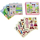 Haba Dress-up Doll Lilli Magnetic Game