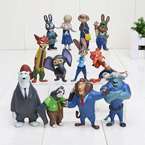 H ot The Latest Movie Zootopia 12pcs/set Cartoon Utopia Action Figure Movie Pvc Mini Models 4-8cm Nick Fox Judy Rabbit Dolls