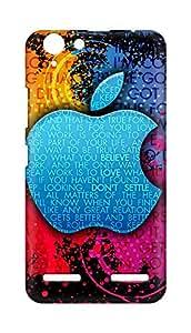 Amez designer printed 3d premium high quality back case cover for Lenovo K5 Plus (Apple Colorful Creative Logo)