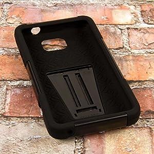 ZTE Sonata 2 Case - Black, MPERO IMPACT X Series Dual Layered Tough Durable Shock Absorbing Silicone Polycarbonate Hybrid Kickstand Case for Sonata 2 by EMPIRE