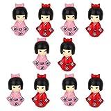 Imported 10 Miniature Bonsai Craft Fairy Garden Landscape DIY Girl in kimono Decor