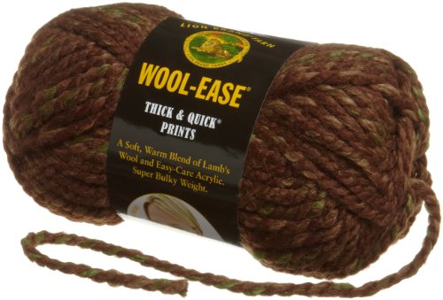 Lion Brand Yarn 640-502B Wool-Ease Thick & Quick Yarn, Mesquite