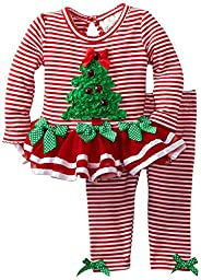 Rare Editions Baby-Girls Red Striped, Tree Tutu Set, 24 months