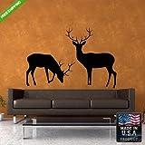 Wall Vinyl Decal Mural Sticker Beautyfull Buck Deer Elk Animals Bedroom (Z133)