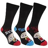 メンズ ファミリー・ガイ オフィシャル商品 カジュアル ソックスセット 靴下セット (3足組) 男性用 (25.5-28.5cm) (ステューウィー)