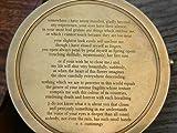 Solid Brass Poem Compass 3