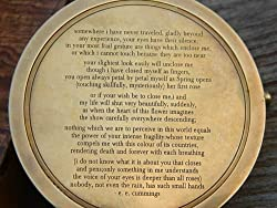 Solid Brass Poem Compass 3 with Hard Wood box Engraved Poem