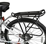 Ibera PakRak Bicycle Touring Carrier Plus+, Frame-Mounted for Heavier Top & Side Loads, Height Adjustable, Fender Board, for 26