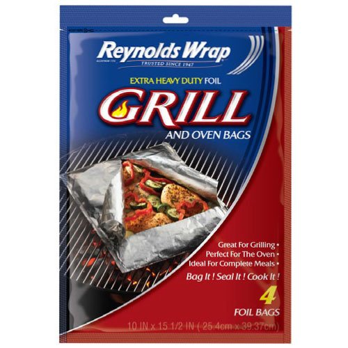 Reynolds Wrap Extra Heavy Duty Foil Grill and Oven Bags (4 Count) (Reynolds Oven Bags Small compare prices)