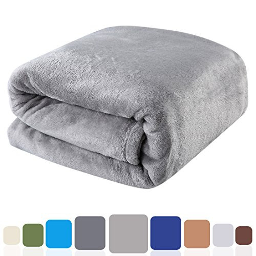 Balichun Luxury Fleece Blanket Super Soft Warm Lightweight Bed Blankets Twin/Queen/King(Queen,Grey) (Big Blanket compare prices)