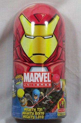 Marvel Mighty Beanz Iron Man Collector Tin Set