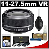 Nikon 1 11-27.5mm f/3.5-5.6 VR Nikkor-Zoom Lens (Black) with 3 UV/CPL/ND8 Filters + Accessory Kit for J1, J2 & V1 Digital Cameras