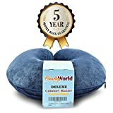 Comfortable Travel Pillows - Comfort Master Travel Neck Pillow - Made From High Quality Memory Foam For Neck Pain And Travel - The Neck Pillow Comes With A Soft Washable Velvet Cover, Blue