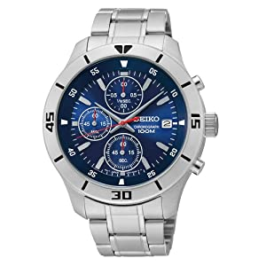 Seiko Men's SKS399 Analog Display Japanese Automatic Silver Watch