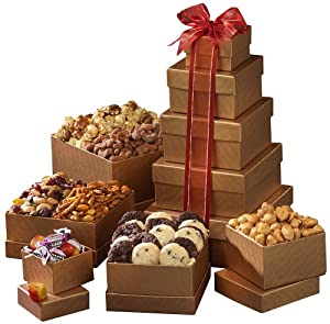 Broadway Basketeers Happy Birthday Gift Tower of Sweets