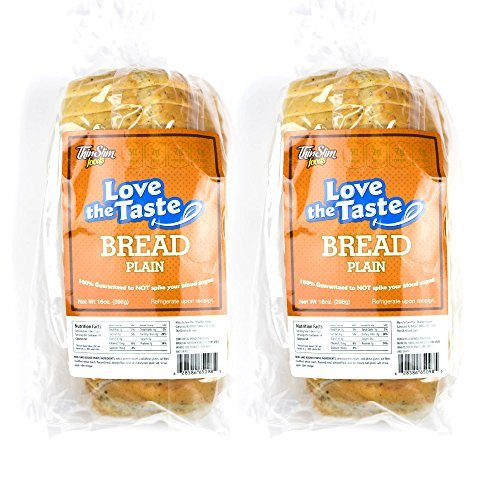 ThinSlim Foods Love-The-Taste Low Carb Bread, 2pack (Plain) (Low Carb Breads compare prices)