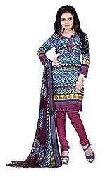 Jinal Fashion women's crepe dress material (Multi_color)
