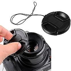 52mm Center-Pinch Snap-On Front Lens Cap for Nikon - Black