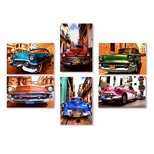 Trademark Fine Art Classic Cars Wall Collection 6 Panel Set (Classic Car Photography compare prices)