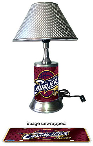 Cleveland Cavaliers Lamp with chrome shade (Cavaliers Merchandise compare prices)