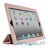 NYブランドMIVIZU 【ipad2専用】 レザーケース スタンド型iPad2 ケース 【レザー カバー、ケース】 アップル iPad2 専用ケース 【液晶保護付き スクリーンプロテクター付き】 ピンク