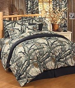 Mossy Oak Camo Treestand Comforter Set Queen Camouflage Be